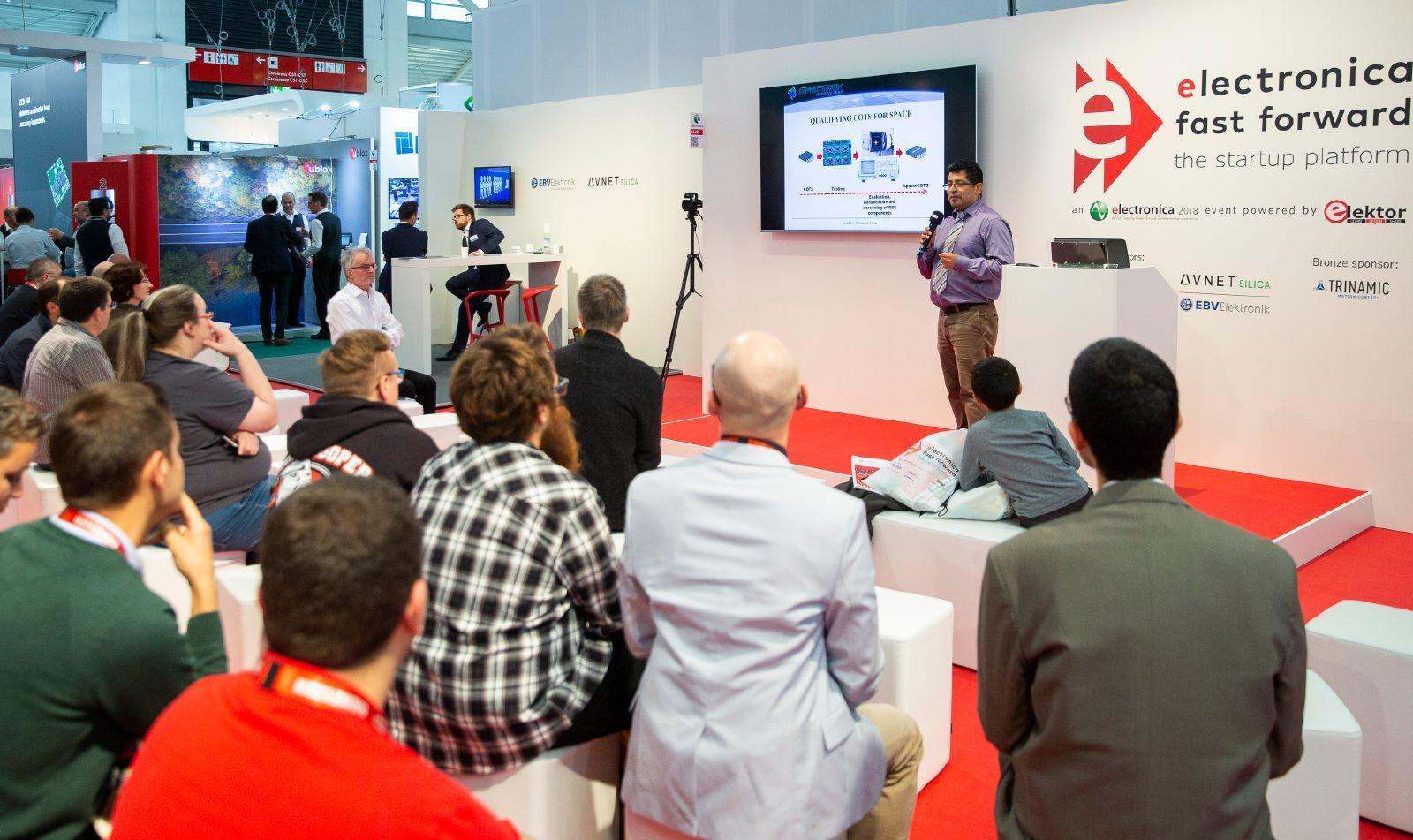 독일 뮌헨 국제 전자부품 박람회(electronica)에서 스타트업 참가를 통해 신기술가 제품을 선보이고 신규기업의 성장을 지원하기 위해 운영하는 스타트업 프로그램입니다.