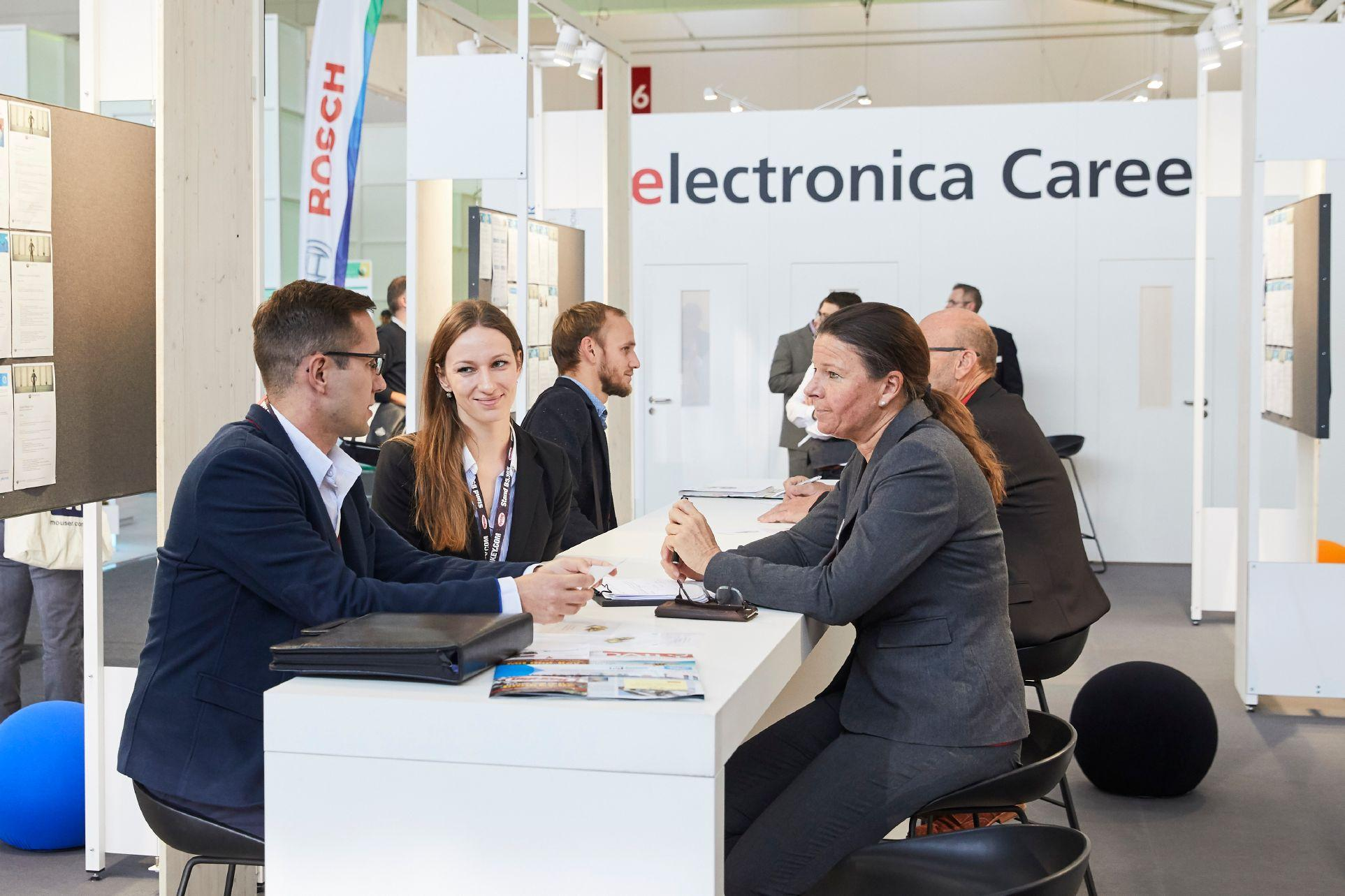 독일 뮌헨 국제 전자부품 박람회(electronica)에서 독일 진출할 때 필요한 독일 내 인력 채용을 위해 활용할 수 있는 프로그램을 전시 기간 동안 운영합니다.