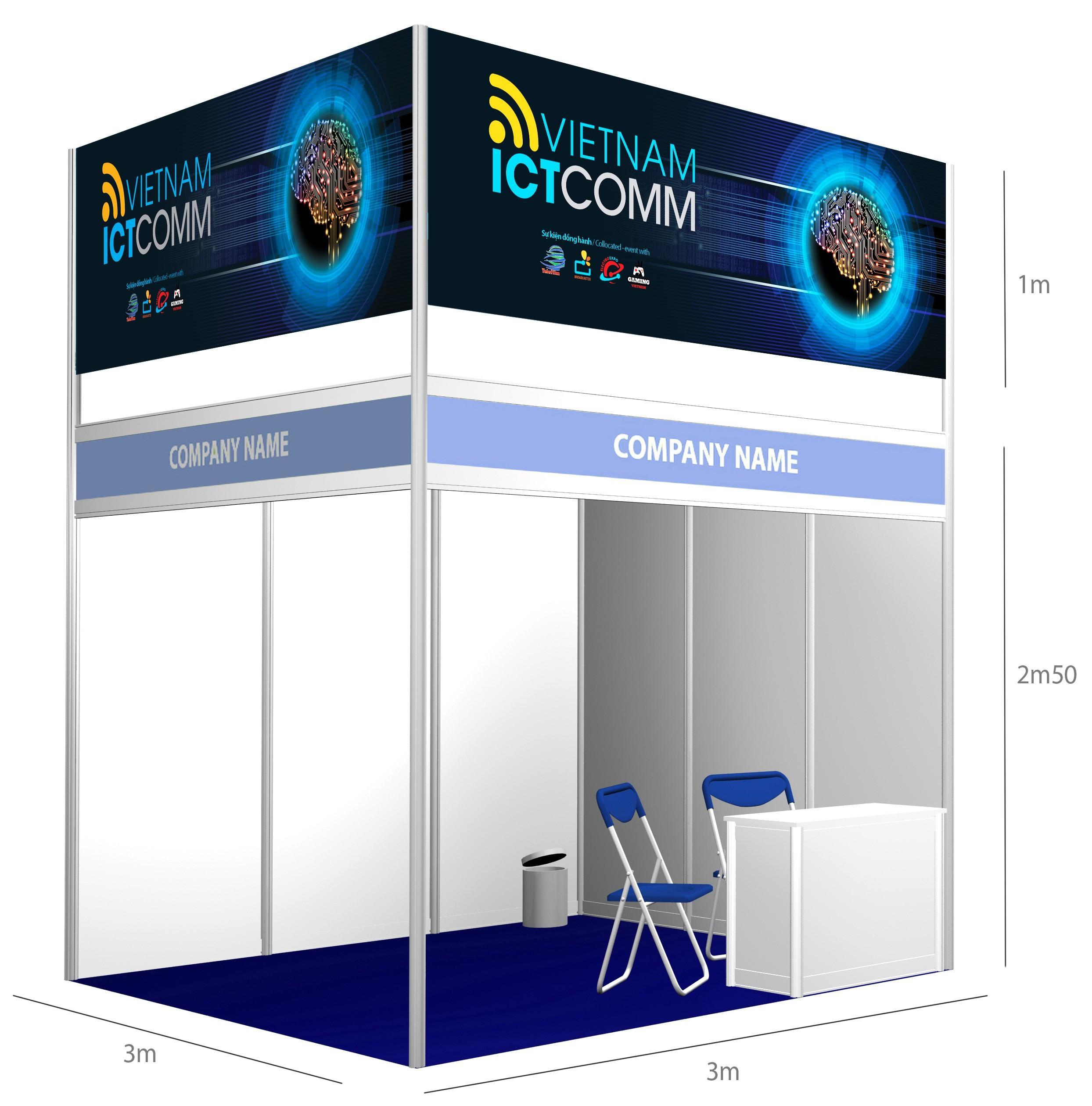 2020년 베트남 정보 통신 박람회(ICTCOMM) 조립부스 예시