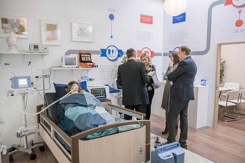 러시아 국제 의료관광 박람회 MedTravelExpo 참가기업이 바이어와 상담